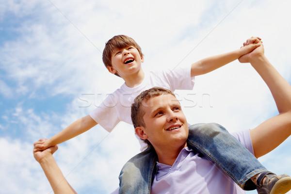 Excitação retrato feliz homem filho Foto stock © pressmaster