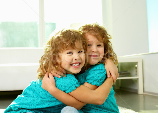 Gêmeo humor retrato alegre irmãs Foto stock © pressmaster