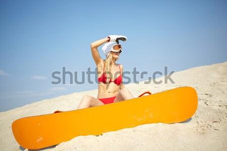 Beach sportswoman Stock photo © pressmaster