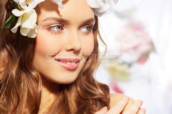 Tavasz ábrázat közelkép kép lány vásár Stock fotó © pressmaster