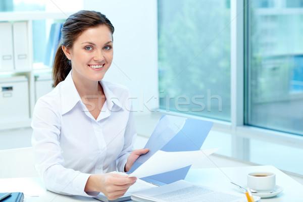 Bastante empleador retrato feliz Foto stock © pressmaster