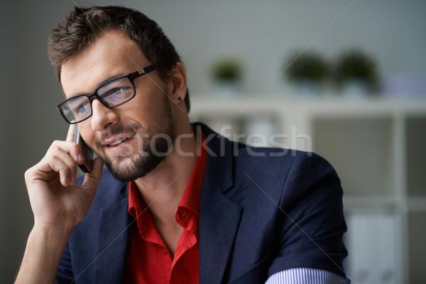 Phoning client Stock photo © pressmaster