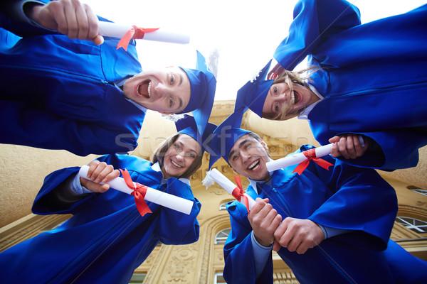 Circle of graduates Stock photo © pressmaster