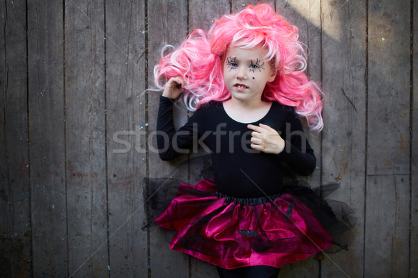 Cute Halloween girl Stock photo © pressmaster