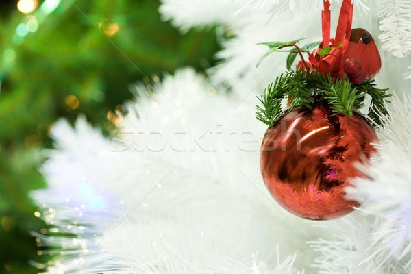 Bianco Natale magia primo piano rosso giocattolo Foto d'archivio © pressmaster