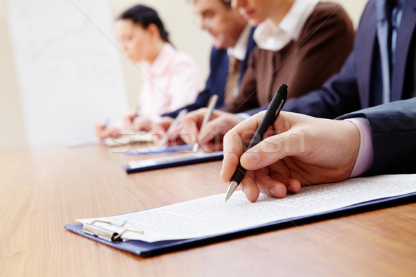 ストックフォト: 学習 · 文書 · ビジネスの方々 · ノート