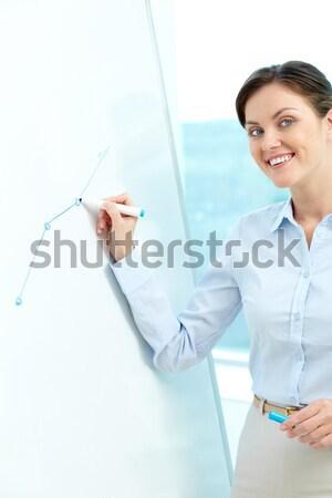 Stock fotó: Szimbólum · siker · jóképű · férfi · mutat · hüvelykujj · felfelé