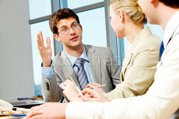 Foto stock: Conversación · retrato · empresario · trabajo · negocios