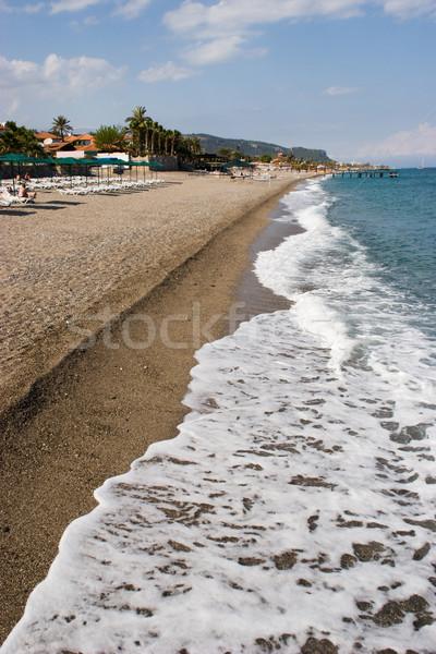 Сток-фото: морем · берега · изображение · волна · песчаный · поверхность