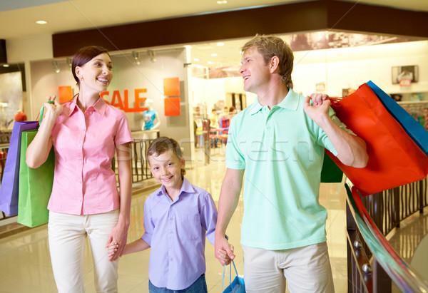 Photo stock: Réussi · Shopping · portrait · mari · femme · fils