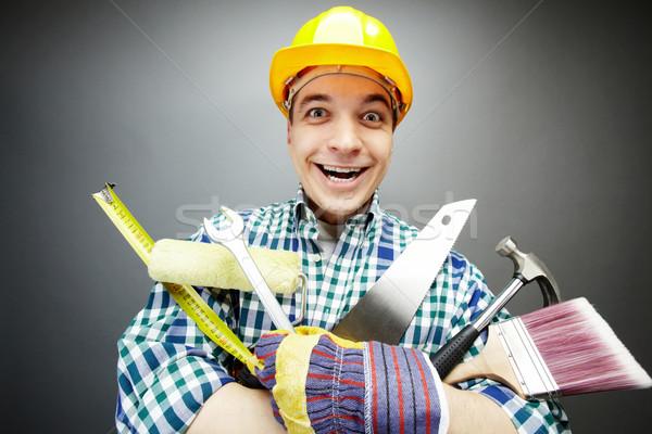 Repairman with tools Stock photo © pressmaster