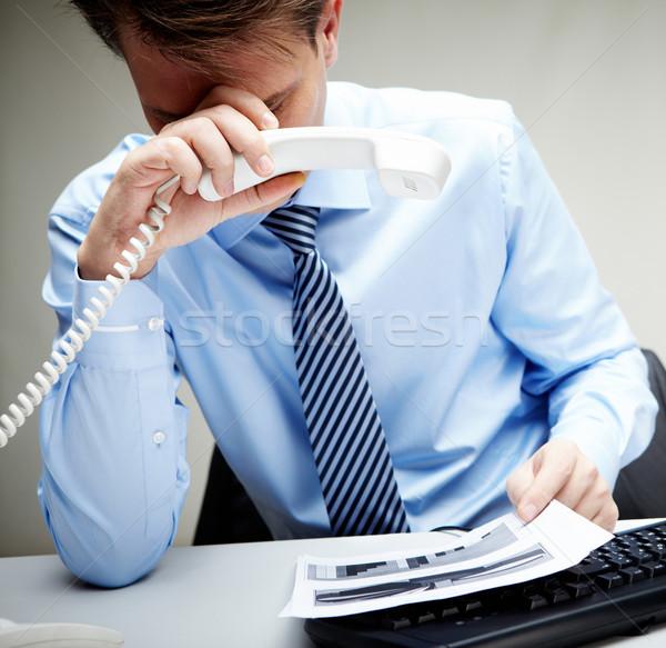 Tired businessman Stock photo © pressmaster
