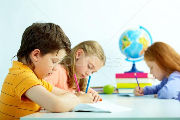 рисунок группа урок девушки школы Сток-фото © pressmaster