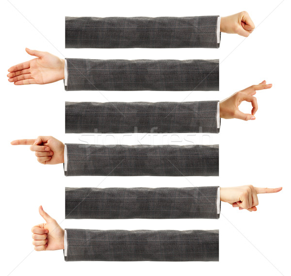 Lichaamstaal creatieve afbeelding menselijke handen tonen Stockfoto © pressmaster