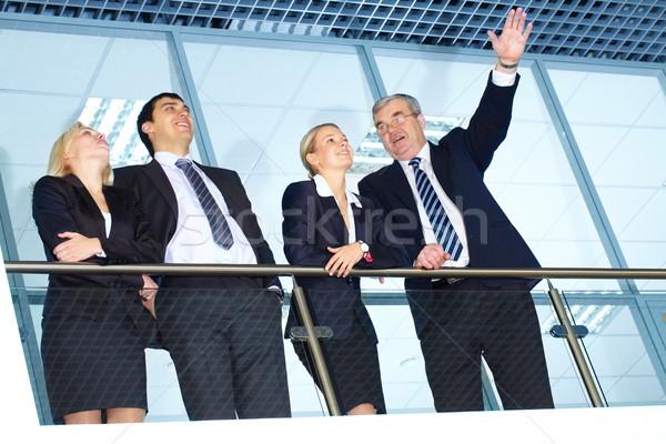 Foto stock: Futuro · negocios · planes · líder · equipo · mujer