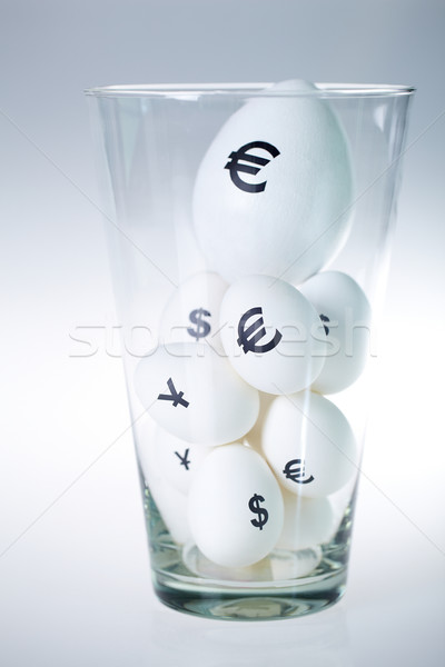 All eggs in one basket Stock photo © pressmaster