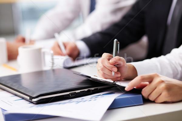 Merkt vrouwelijke hand business Stockfoto © pressmaster