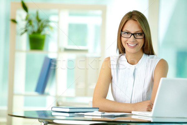 At business workplace Stock photo © pressmaster
