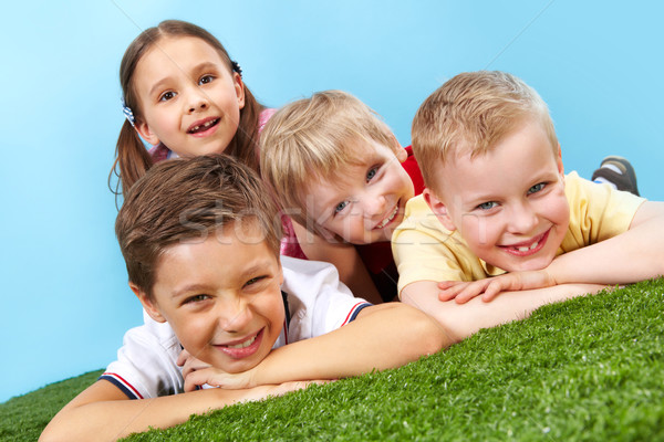 Resting kids Stock photo © pressmaster