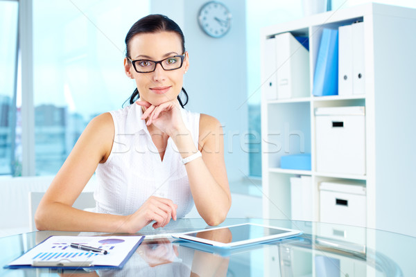 Elegant manager Stock photo © pressmaster