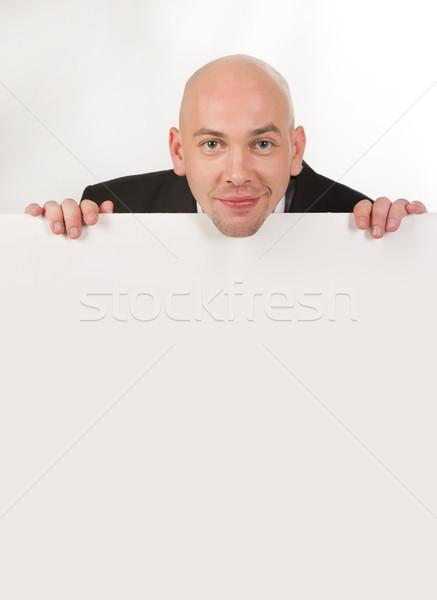 Sinsi adam görüntü yakışıklı erkek bakıyor Stok fotoğraf © pressmaster