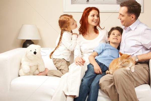 Zdjęcia stock: Ciepły · atmosfera · przyjazny · rodziny · posiedzenia · wygodny