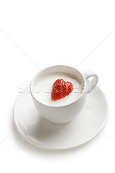 Stock photo: Strawberry heart