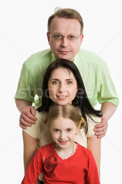 Családi portré kép család arcok néz kamera Stock fotó © pressmaster