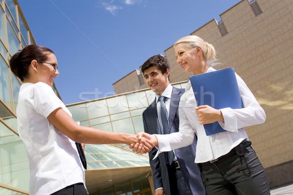 Women handshaking Stock photo © pressmaster