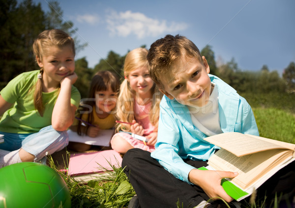 Boy with book Stock photo © pressmaster