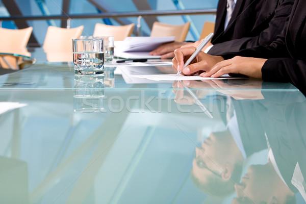 Foto stock: Trabalhar · humanismo · mãos · caneta