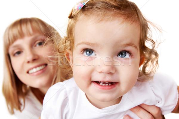 Photo stock: Amusement · joyeux · mère · famille · portrait