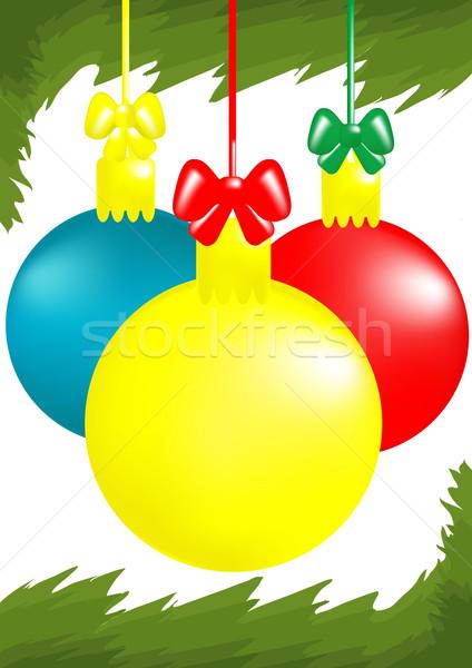 three x-mas balls  Stock photo © pressmaster
