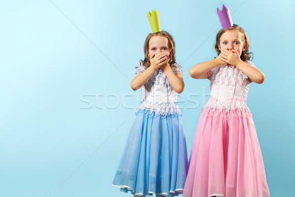 Astounded twins Stock photo © pressmaster