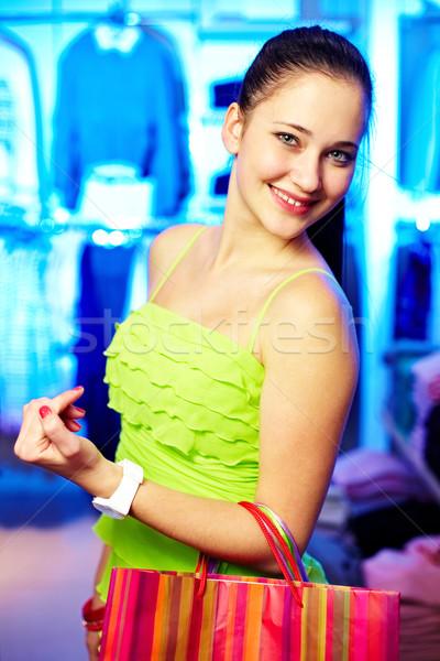 Girl in clothing department Stock photo © pressmaster