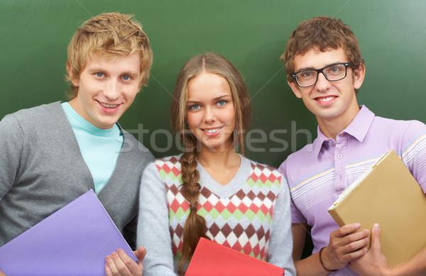 Felicidad retrato feliz adolescentes pie otro Foto stock © pressmaster