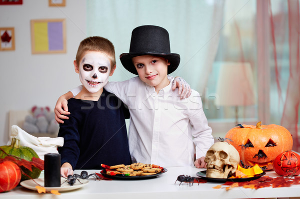 Stock photo: Halloween twins