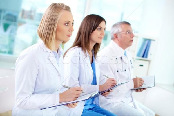 Photo stock: Médicaux · éducation · portrait · réussi · travailleurs · écouter