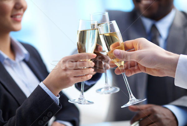 Toast for success Stock photo © pressmaster