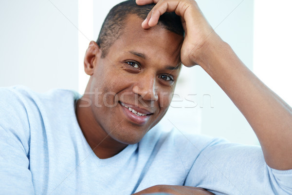 Foto stock: Positividad · imagen · jóvenes · África · hombre · mirando