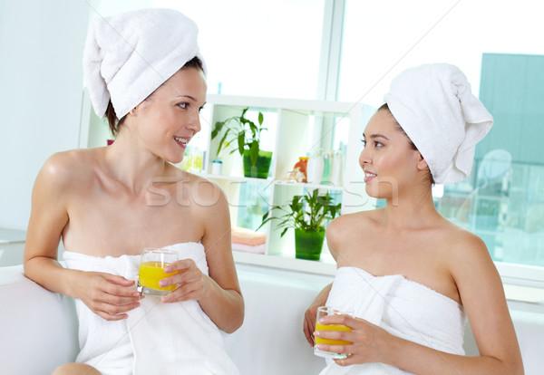 Friends in spa salon Stock photo © pressmaster