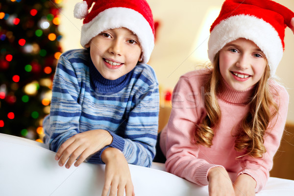 Merry siblings Stock photo © pressmaster