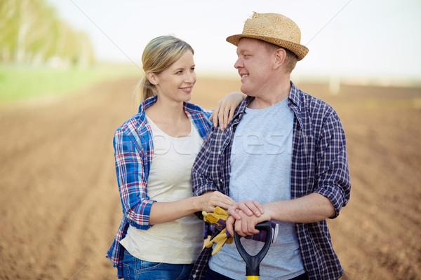 ストックフォト: カップル · 農民 · 画像 · 2 · 幸せ · 見える