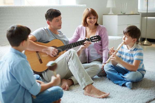 Musical family Stock photo © pressmaster