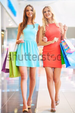 Stock photo: Shoppers in the mall