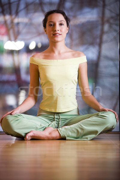 Lotus pose Stock photo © pressmaster