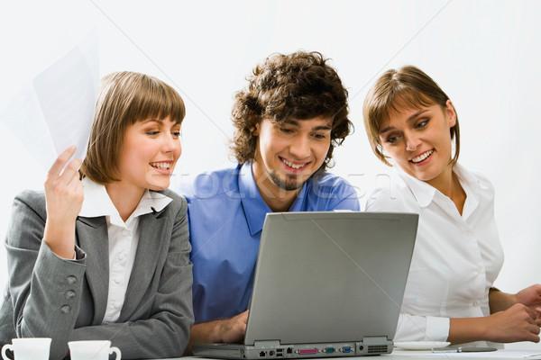 Corporativo reunião bem sucedido pessoas de negócios discutir novo Foto stock © pressmaster