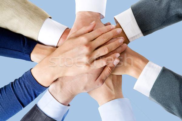 Tous une photo gens d'affaires affaires travaux Photo stock © pressmaster