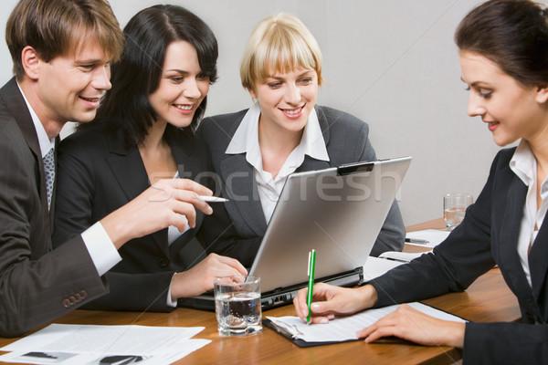 Pessoas trabalhar contemporâneo pessoas de negócios escritório Foto stock © pressmaster