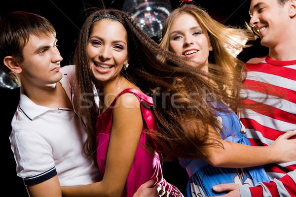 Stock fotó: Diszkó · fotó · örömteli · barátnők · átkarol · egyéb